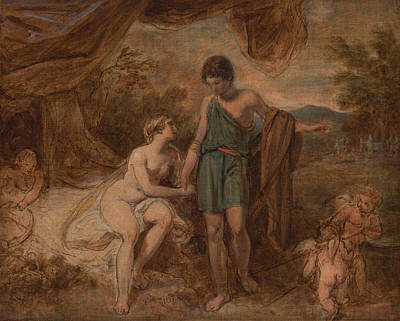 Painting - An Unfinished Study Of Venus And Adonis by Thomas Stothard