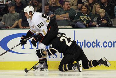 Photograph - Anaheim Ducks V Dallas Stars by Bruce Bennett