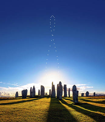 Photograph - Analemma Over Callanish by Giuseppe Petricca