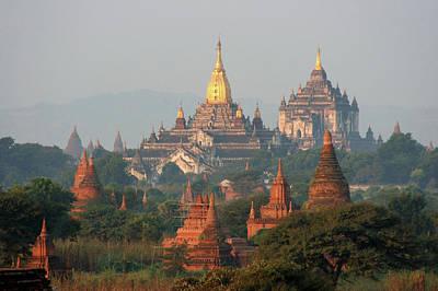 Photograph - Ananda & Thatbyinnyu, Bagan, Burma by Joe & Clair Carnegie / Libyan Soup