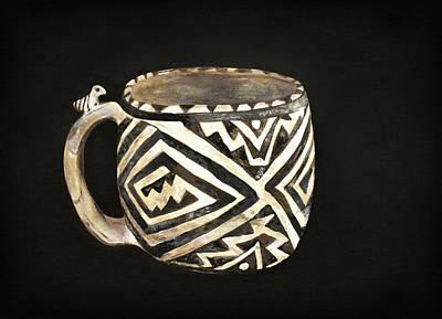 Painting - Anasazi Bird Mug by Jennifer Kelly