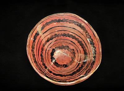 Painting - Anasazi Redware Bowl by Jennifer Kelly