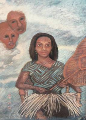 Wall Art - Pastel - Ancestor Worship by Elaine Marie