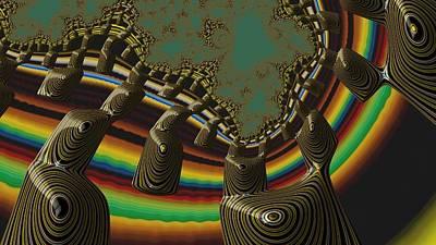 Digital Art - Ancient Civilizations Fractal Abstract by Shelli Fitzpatrick