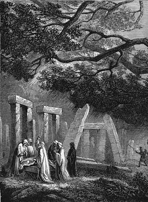 Ancient Druidic Rite Art Print by Kean Collection