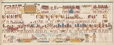 Farmhouse - Ancient Egyptians 19th Century Illustration by Mark Breadon