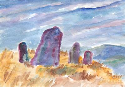 Painting - Ancient Stones Guard The Silence by Dobrotsvet Art