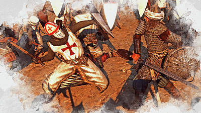 Painting - Ancient Warriors - 13 by Andrea Mazzocchetti