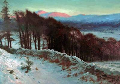 Joseph Farquharson Wall Art - Painting - And All The Air A Solemn Silence Holds 1900 by Farquharson Joseph