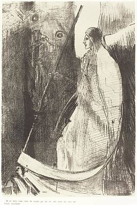 Painting Royalty Free Images - And Another Angel Came out of the Temple Which Is in Heaven, and He also Having a Sharp Sickle, 1899 Royalty-Free Image by Odilon Redon