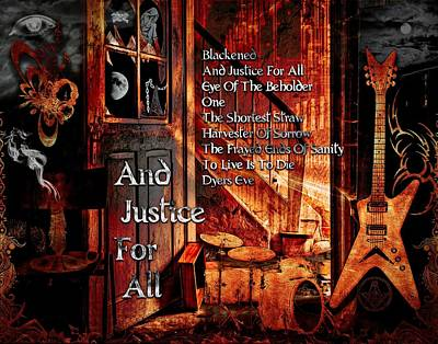 Digital Art - And Justice For All by Michael Damiani