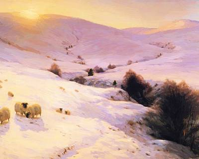 Joseph Farquharson Wall Art - Painting - And The Sun Peeped O Er Yon Southland Hills by Farquharson Joseph