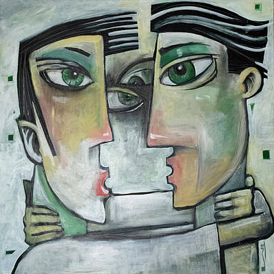 Painting - And Then Their Eyes Met by Tim Nyberg