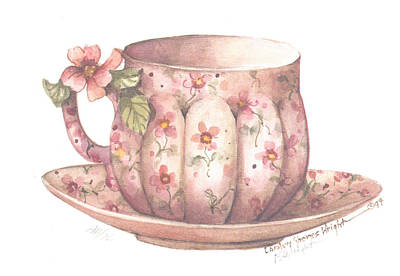 Wall Art - Painting - Andante Cup And Saucer by Carolyn Shores Wright