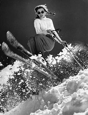 Skiing Photograph - Andrea Mead Lawrence by George Silk