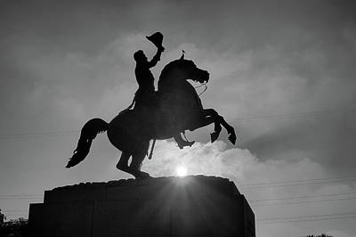 Photograph - Andrew Jackson Statue At Sunrise Jackson Square New Orleans Louisiana by Toby McGuire