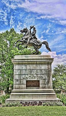 Photograph - Andrew Jackson Statue - Nashville by Allen Beatty