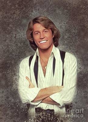Recently Sold - Music Paintings - Andy Gibb, Music Legend by Esoterica Art Agency