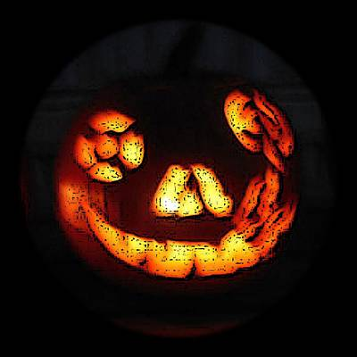 Digital Art - Andy's Jack O Lantern by Walter Chamberlain