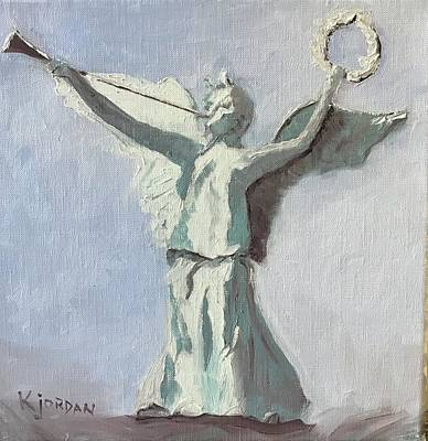 Karen Jordan Wall Art - Painting - Angel At West Point by Karen Jordan