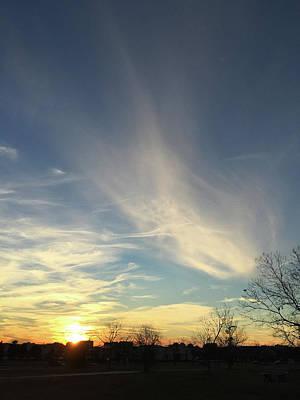 Photograph - Angel Cloud Sunset by Matthew Seufer
