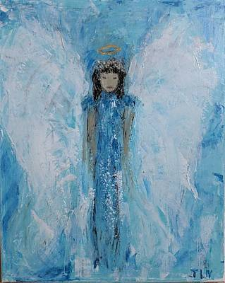 Painting - Angel In Blue by Jennifer Nease