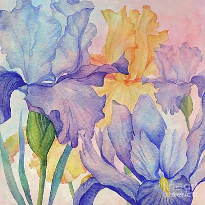 Wall Art - Mixed Media - Angel Iris - Delight by Amanda Lakey