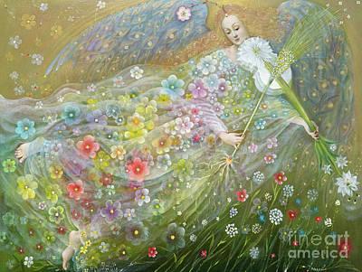 Painting - Angel Of The Wheat by Annael Anelia Pavlova