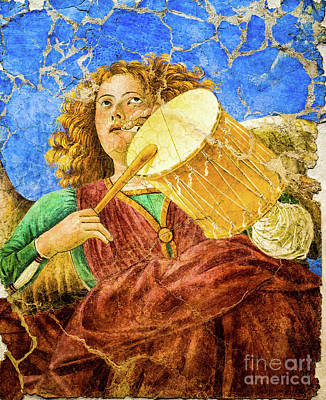 Painting - Angel Playing The Drum And The Flute by Melozzo da Forti