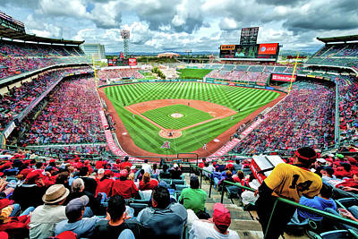 Painting - Angel Stadium Los Angeles Angels by Christopher Arndt