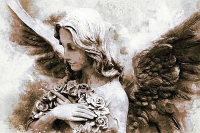Venus Wall Art - Painting - Angel Statue by ArtMarketJapan