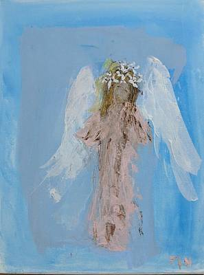 Angel With A Crown Of Daisies Art Print