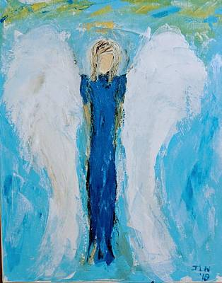 Painting - Angel With Large Wings by Jennifer Nease