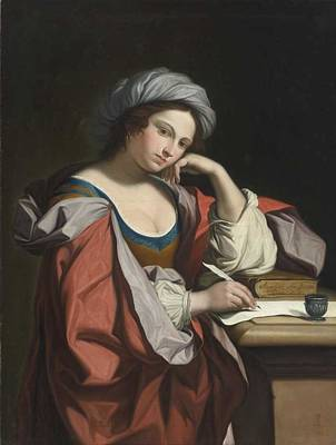 Painting Royalty Free Images - Angelica Kauffman  Austrian, 1741  1807   A Sybil Royalty-Free Image by Celestial Images