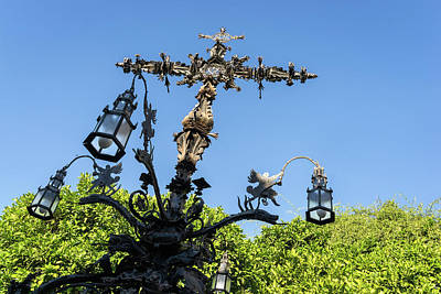 Photograph - Angels And Snakes - Cruz De La Cerrajeria - Cross Of The Locksmith by Georgia Mizuleva