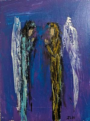Painting - Angels For Protection by Jennifer Nease