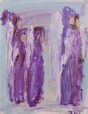 Angels In Purple Art Print