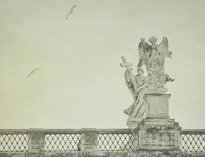 Castel Santangelo Wall Art - Photograph - Angels Of Ponte Sant' Angelo by JAMART Photography