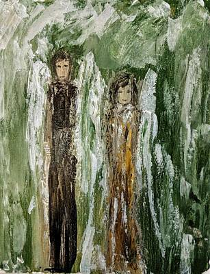 Painting - Angels For Support by Jennifer Nease