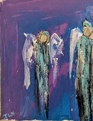 Painting - Angels Under The Night Sky by Jennifer Nease