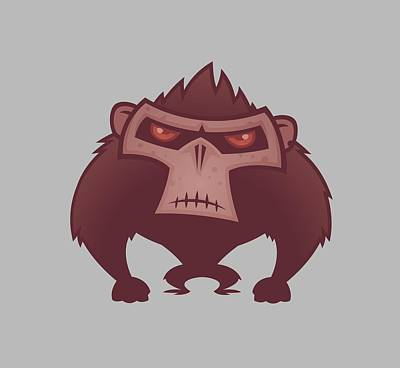 Royalty-Free and Rights-Managed Images - Angry Ape by John Schwegel