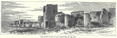 Landmarks Painting Royalty Free Images - Ani Castle Royalty-Free Image by Celestial Images