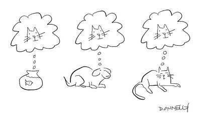 Drawing - Animal Thoughts by Liza Donnelly