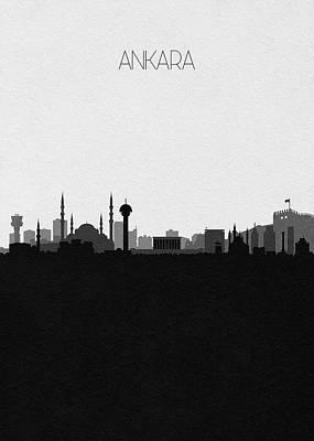 Digital Art - Ankara Cityscape Art by Inspirowl Design