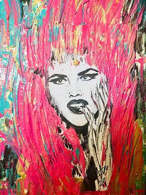 Mixed Media - Anna Nicole by Jayime Jean