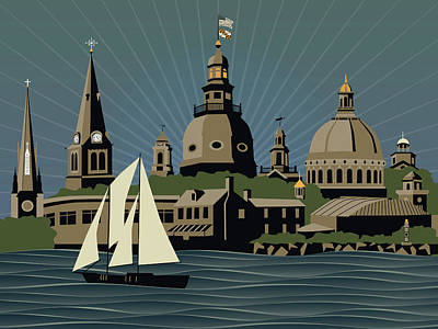 Annapolis Steeples And Cupolas Serenity Art Print