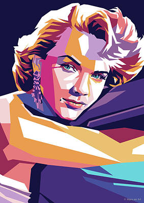Coy Fish Michael Creese Paintings - Anne Francis by Stars on Art