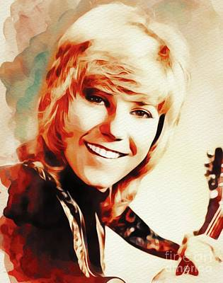 Music Paintings - Anne Murray, Music Legend by Esoterica Art Agency