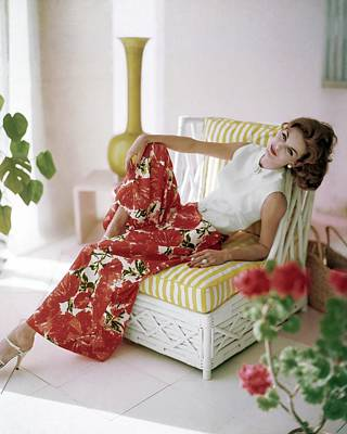 Photograph - Anne St. Marie Wearing B.h. Wragge by Horst P. Horst