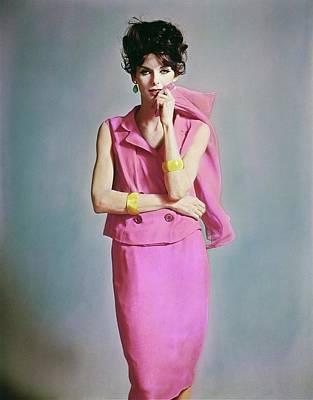 Photograph - Anne St. Marie Wearing Bill Blass by Bert Stern